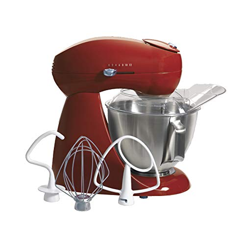 Hamilton Beach Eclectrics All-Metal 12-Speed Electric Stand Mixer, Tilt-Head, 4.5 Quarts, Pouring...