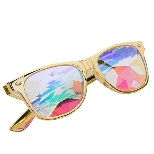 Deals, Festivals Kaleidoscope Glasses for Raves - Goggles Rainbow Prism Diffraction Crystal Lenses