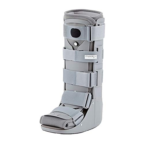 PhysioRoom Air Shield Walker - Pie, Tobillo y Heal Fractura Soporte de compresión, adaptable, transpirable e higiénico Brace con paneles delanteros y traseros extraíbles, ayuda a la rehabilitación y aumenta la estabilidad - Walker Boot