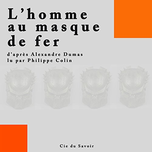 L'homme au masque de fer audiobook cover art