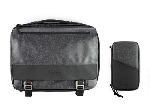 ETCHR Art Satchel & Field Case Duo - The Ultimate Art Supply Organizer - Stylish Art Bag - Vegan-Friendly Artist Bag - Field Bag & Art Case - Art Supply Bag - Artist Backpack & Field Pack Combo