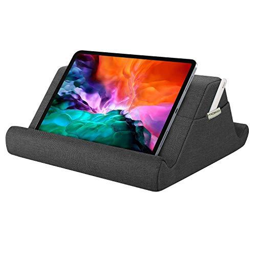 MoKo Cuscino Supporto per Tablet, Multi-Angolo Supporto per Tablet eReader, Compatibile con iPad 10.2  2020 Nuovo iPad Air 4 10.2  2019, iPad Air 3 Mini 5, iPad PRO 11 2020 - Grigio Siderale