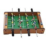 Mesa de futbolín, mini portátil de madera, juguete educativo para niños, con marcador de puntuación y fácil retorno de bolas, para adultos y niños (tamaño: 13.5 × 8.4 × 3.1 pulgadas)
