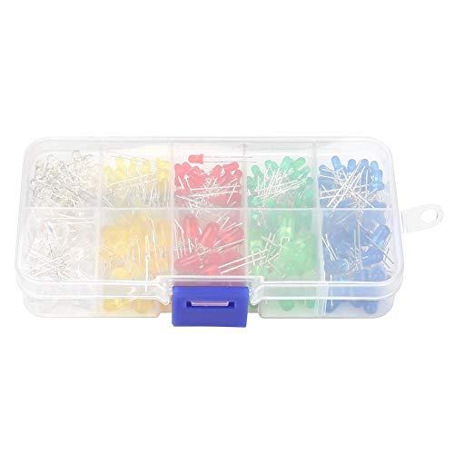 350 STÜCKE 3mm & 5mm Sortierte LED Leuchtdiode Widerstand Sortiment Kit Multi Farbe mit Aufbewahrungsbox
