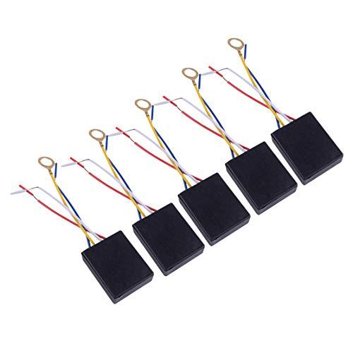 eastar - Juego de 5 lámparas de Mesa (3 vías, 100-240 V, con Interruptor y regulador de Intensidad)