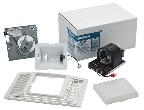 Broan 655F Finish Pack. Heater/Fan/Light Assembly and Grille, 100W Light, 1300W Heater, 70 CFM