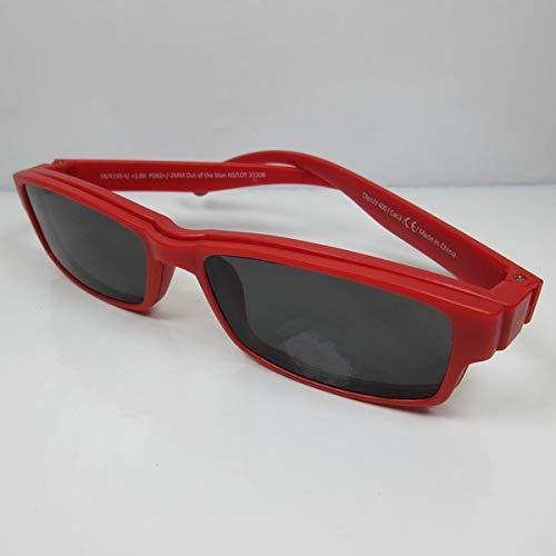 Getinte leesbril +1,0 rood met magneet clip-on UV400 CAT.3 leeszonnebril