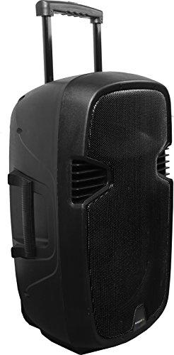 Ibiza Sound HYBRID15VHF-BT - Megafonía portátil, 15 pulgadas, color negro