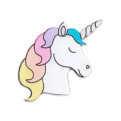 iTemer 1 Unidades de Dibujos Animados Lindo acrílico patrón Unicornio Broche de joyería...