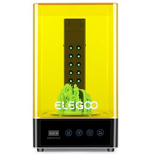 ELEGOO Mercury Plus Máquina de Lavado y Curado 2 en 1 para LCD/DLP/SLA Modelos Impresos en 3D Caja de Curado UV de Resina con Plato Giratorio de Curado y Cubeta de Lavado
