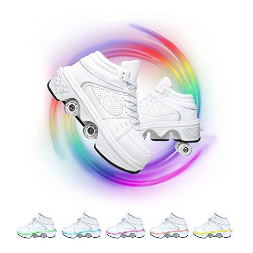 HealHeatersⓇ Led Luces Zapatos con Ruedas para Niños Y Niña Automática Calzado De Skateboarding Deportes De Exterior Patines En Línea Deporte Gimnasia Zapatillas