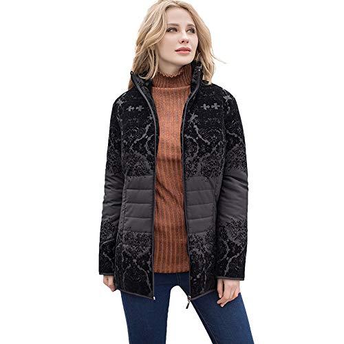 YHXMG Dames Tops Vrouwen Jas Herfst Lady Winter Jas Met Kraag Plus Bovenkleding