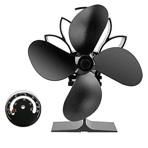 Dadahuam Ventilator Für Kaminofen, Wärmebetriebener Ofenventilator Mit Warmluft Für Kamin Und Holzofen