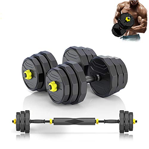 PINROYAL Adjustable Dumbbells Fitness Dumbbell Barbell Combination Set, Adjustable Weight Home Fitness Equipment with Connecting Rod for Every Type Training(44lBS)