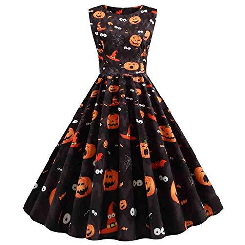 Best Buy! KYLEON Womens Halloween Dress 50s Pin Up Costume Rockabilly Cocktail Party Dress 1950s Vin...