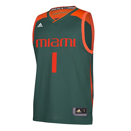 NCAA Miami Hurricanes Replica Jersey, Large, Green