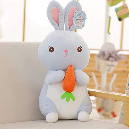DINGX Pequeño conejo de peluche de juguete de zanahoria conejo muñeca perrito sosteniendo una muñeca niño pacificando niña regalo-45Cm_verde chuangze