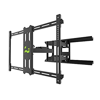 Kanto PDX680 Full Motion Articulating TV Wall Mount for 39-inch to 80-inch TVs Weighing up to 125 Pounds | Integrated Cable Management | Low Profile and 24-in Extension | Black