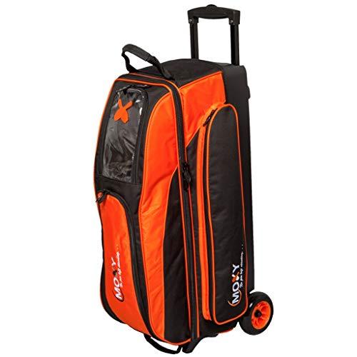 fx bowling bags Moxy Bowling Products Blade Triple Roller Bowling Bag- Orange/Black