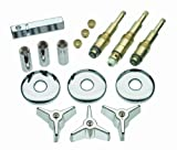 REMODEL KIT for American Standard Colony faucets for 3-HANDLE faucets with metal handles INCLUDES (1) Hot handle, (1) Cold handle, (1) diverter handle; 9C-23H Stem, 9C-23C Stem, 11C-1D Stem, (2) #44 seats, (3) flanges, (3) sleeves DURABLE BRASS const...