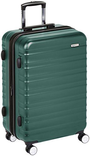 Amazon Basics - Trolley rigido Premium con rotelle pivotanti e lucchetto TSA integrato - 78 cm, Verde