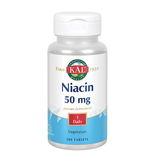 Kal 50 Mg Niacin Tablets, 200 Count