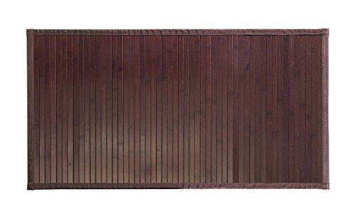 Solagua 8 Modelos 4 Medidas de Alfombra Bambu Antideslizante/Alfombra de Madera Salon, baño, Cocina y Multiusos (60 x 90 cm, Marrón Oscuro)