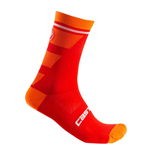 CASTELLI Trofeo 15, Herren-Socken, Herren, Socken, 4520040, rot, S-M