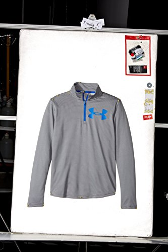 Camiseta de manga larga de tecnología texturizada para chicos con cremallera 1/4,...