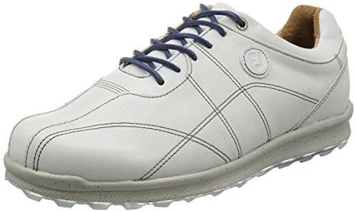 FootJoy Versaluxe Spikeless Golf Shoes Distressed Off White 8 Wide