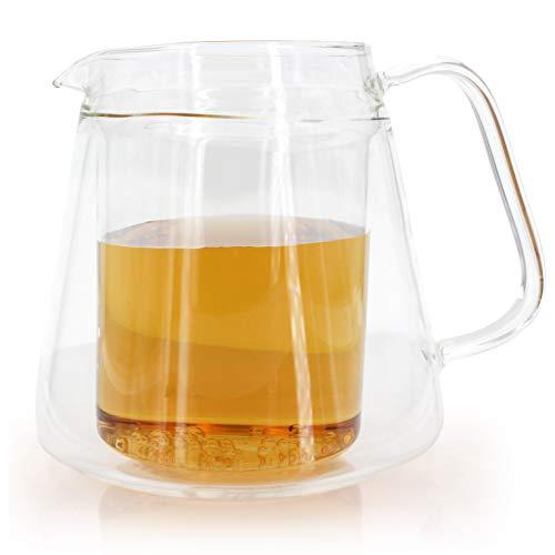 Carafe à thé carafe à eau double paroi élégante 550ml - prix spécial!