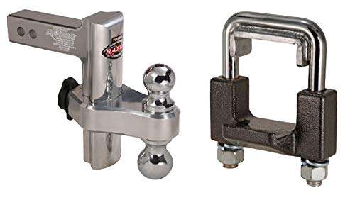 Trimax TRZ8AL THC200 Aluminum 8-Inch Adjustable Drop Hitch with Locking Ball Mount and 2-Inch Hitch Anti-Rattle Clamp