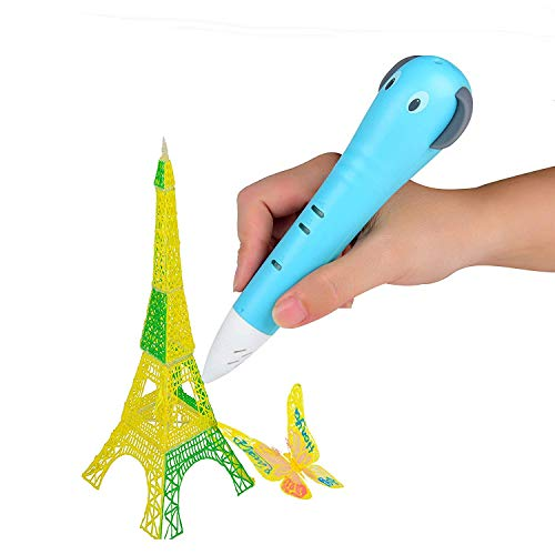 LG&S 3D Printing Pen for Arts And Crafts, Rechargeable Drawing Pen, Sculpting and Doodling Perfect DIY Gift for Kids Voice Control,Blue