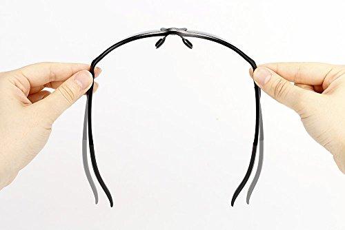 Yougarr Group polarized men's sunglasses for men with Half Metal Frame (Black Lens & Black Frame, 4)