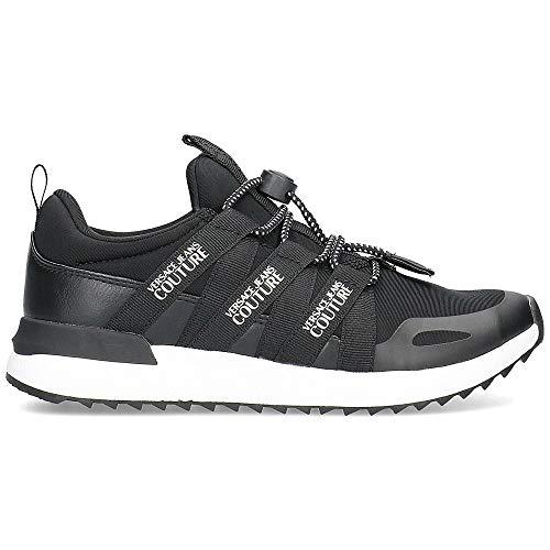 Versace - Zapatillas de deporte para mujer, color negro y blanco, Negro (Negro ), 40 EU