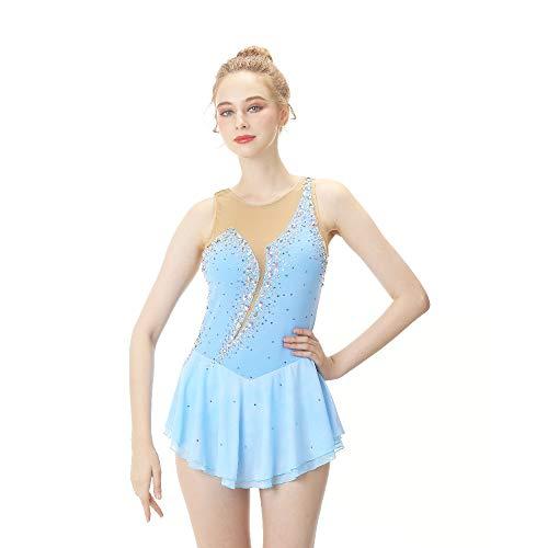 YAMEIJIA wit figuur schaatsen jurk lange mouwen schaatsen rok Spandex