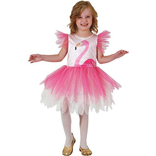 Mortino Disfraz infantil de flamenco, vestido rosalie de animales, carnaval, vestido de verano para niña (104)