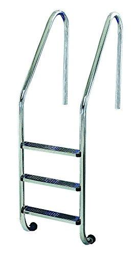 Escalera Modelo Standar Peldaño Antideslizante de Flexinox - AISI 304 - 87112934 - 3 Peldaños