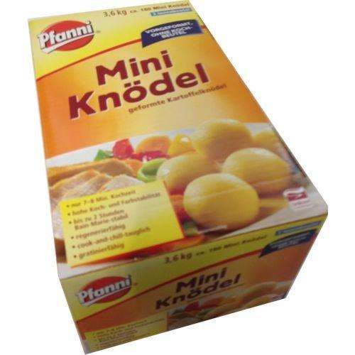 Pfanni Mini Knödel geformte Kartoffelknödel circa 3 x 60 Stück 3.6 kg, 1er Pack (1 x 3.6 kg)