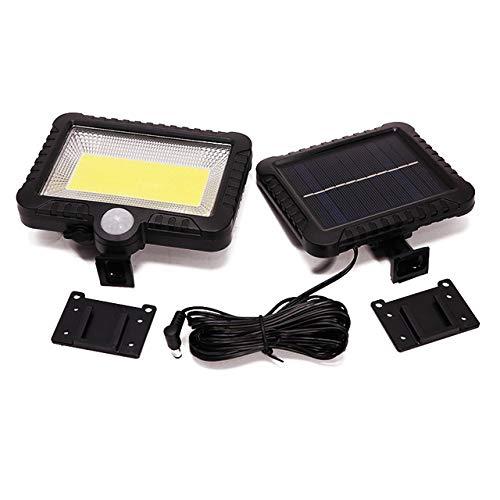 HFFFHA Solar-Außenleuchte 100LED Sonnenenergie-Bewegungs-Sensor-Licht-Scheinwerfer PIR Bewegungs-Sensor im Freien Garten-Flutlicht-Sicherheitslampe