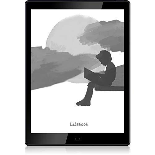 Likebook E-Reader P10, schermo E Ink Carta da 10 ', doppio tocco, scrittura a mano, luce fredda / calda incorporata, altoparlanti di uscita audio integrati, Android 8.1, 4 GB + 64 GB