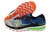 Saucony Men's Triumph ISO 2 Running Shoe, Blue/Silver/Slime, 8 M US