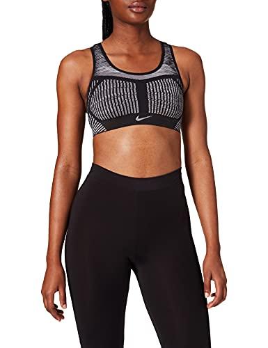 NIKE FE/Nom Flyknit Bra Camiseta, Black/White, L Mujer