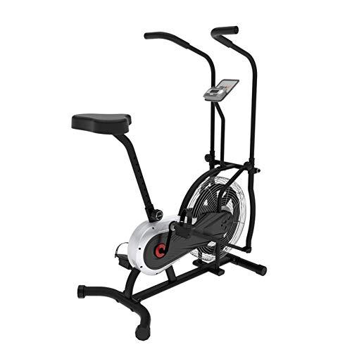 Bicicleta Ventilador Vertical Ejercicio, Bicicleta Interior, Bicicleta Fitness estacionaria Sistema Resistencia al Aire y Ruedas Transporte, Capacidad Peso 250 Libras