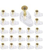 150 stks Glas Retainer Clamp Kit, Glas Standoff, Spiegel Clip voor Kabinet Deuren Garderobe met 150 Bevestigingsschroeven, Punch-Free