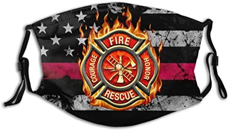 Firefighter Thin Red Line American Flag Face Mask Reusable Dust Mask Fashion Scarves Balaclava product image
