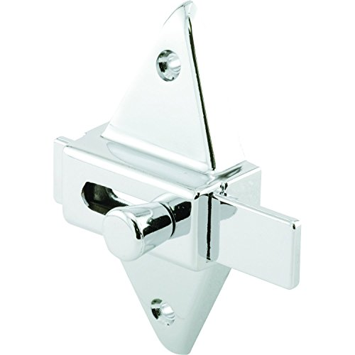 """Prime-Line PH 17039 Slide Latch (1pk) – Restroom Stall Latch – Diecast Construction, Chrome Plated – 2-3/4"""" Hole Centers – Universal Design Can Be Used With Any Door Thickness – Easy to Install"""