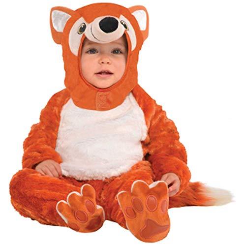 Amscan 9902075 Kinderkostüm Flauschiger Fuchs, braun/weiß, 12-24 Monate