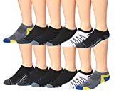 James Fiallo Men's 12-Pairs Performance Low Cut Athletic Sport Socks 2885-3