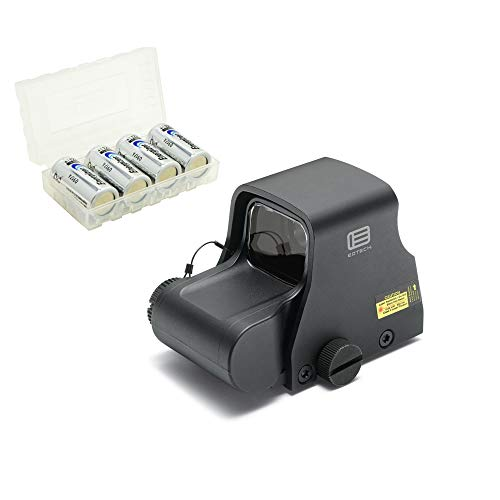 EOTECH XPS3-0 Holographic Red Dot Sight, Black Bundle with 4 CR123 Batteries and a Lightjunction Battery Box